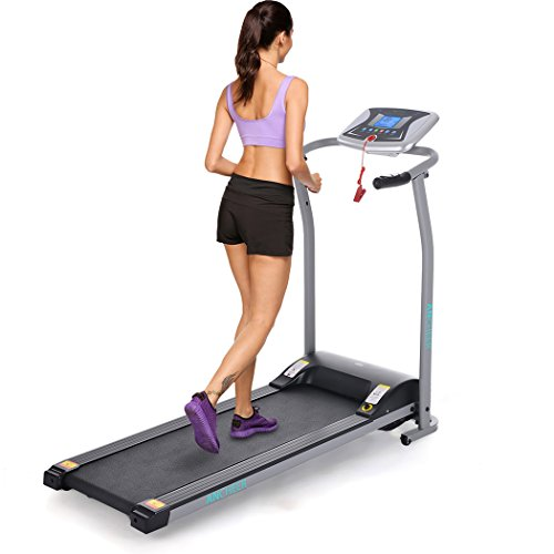 Aceshin Folding Electric Treadmill Motorized Running Machine with Multifunctional LED Display Home Gym Office Exercise Fitness Trainer Equipment Treadmills