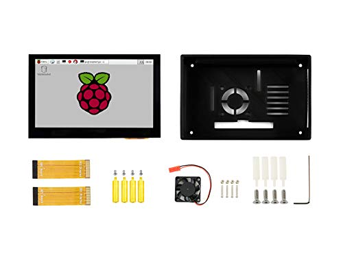Waveshare 4.3inch Capacitive Touch Display for Raspberry Pi with Protection Case 800×480 Resolution IPS Wide Angle MIPI DSI Interface Supports Raspberry Pi 4B/3B+/3B