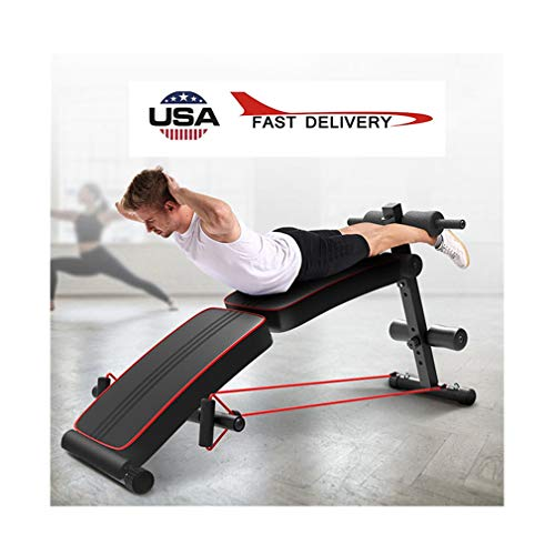 partysu Foldable Decline Sit Up Bench Crunch Board Fitness Home Gym Exercise Sport Multifunction Folding Portable Supine Board