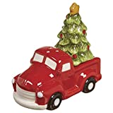 Red Truck Christmas Tree Salt and Pepper Shaker Set