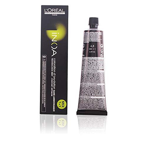 L'Oréal Professionnel INOA Oxidative Coloration Ohne Ammoniak 4,8 mittelbraun mokka, 1er Pack, (1x 60 ml)