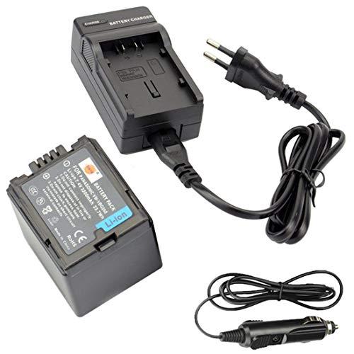 DSTE Ricambio Batteria + DC61E Caricabatteria per Panasonic VW-VBG260 AG-AC7 AG-AF100 AG-HMC40 AG-HMC80 AG-HMC150 HDC-HS250 HDC-HS300 HDC-HS700 HDC-SD600 HDC-SD700 HDC-SDT750 HDC-TM300