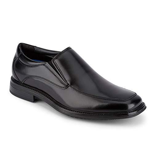 Dockers Mens Lawton Slip Resistant Work Dress Loafer Shoe, Black, 12 W