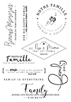 NOTRE famille Transparent Clear Silicone Stamp Seal DIY Scrapbooking photo Album