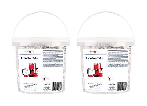 Hansepro Entkalker-Tabs, 2 x 50 Stück I Entkalkungstabletten I Universal-Entkalker I Kalklöser I für Kaffee-Vollautomaten, Kaffee-Maschinen, Wasserkocher, Kaffee-Padmaschine