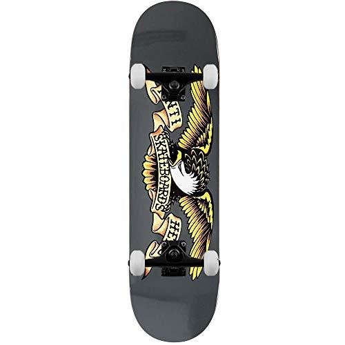 Anti Hero Classic Eagle - Skateboard completo, 21 cm, colore: Grigio