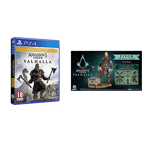 Assassin's Creed Valhalla - Gold Edition - PS4 + Eivor Male Figurine