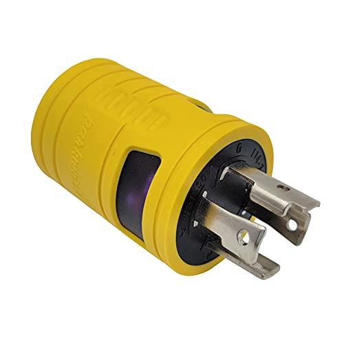 Parkworld 884982 Generator Adapter 4-Prong 30 AMP Locking L14-30P Plug to 20 AMP Locking L14-20R Receptacle