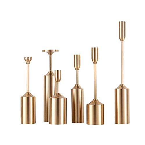 VSander 6 / PCS Leuchter Dekoration European Style Wind Lampe Retro Kreativer Heller Luxus Kerzenständer Plattierungslegierung Bronze Dekoration D6cm, H22-40CM