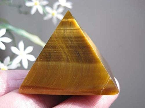 Decor Stone Natural Tiger Eye favorite Healing Quartz Crystal Pyramid Spring new work one after another 60g