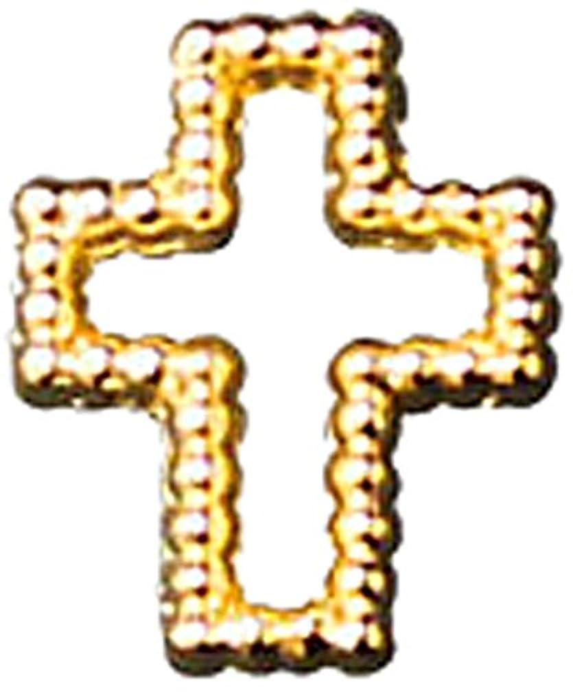 高価な降雨ストレスプリティーネイル ネイルアートパーツ ブリオンクロス2 S ゴールド 15個