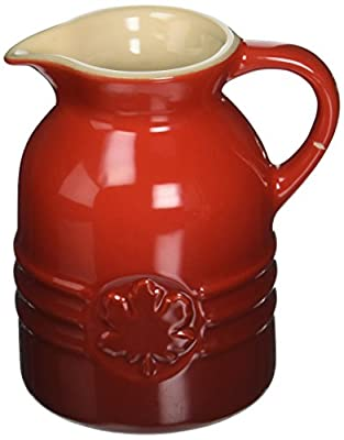 Le Creuset Stoneware Syrup Jar, 8 oz., Cerise