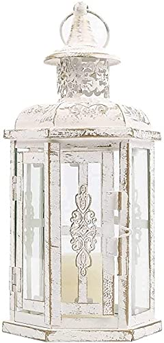 EPYFFJH High Outdoor Candela Lanterne vintage in stile vintage lanterna a candela in metallo in metallo per giardino soggiorno coperto da camera da letto da camera da letto da camera da letto e matrim