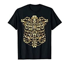 This Steam Punk Skeleton Ribcage Shirt is the perfect gift or costume for holidays, rock this at your next Halloween party. It's unique and definitely catches anyone's attention. Great gift for people born in october or who just like mechanical desig...