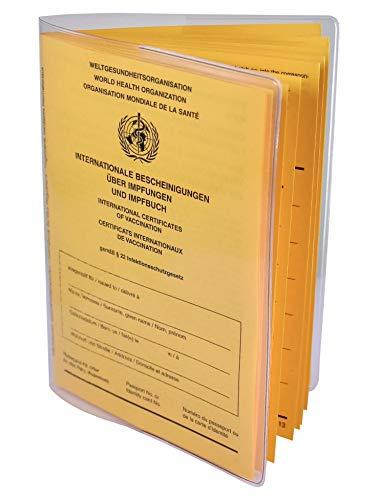 Schutzhülle für aktuellen Impfpass 137 x 100mm Made in Germany - dokumentenecht - transparent mit Buchrücken Impfausweis Impfbuch Hülle Etui Umschlaghülle