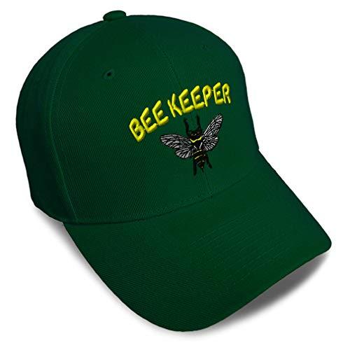 Baseball Cap Bee Keeper Strap Closure Forest Green