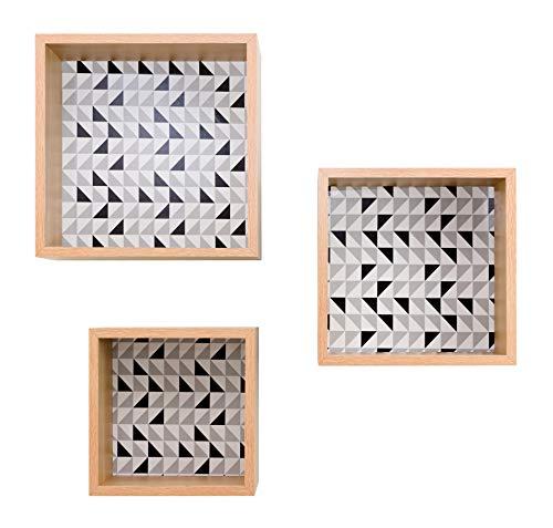 kieragrace Stockholm Hellstrom Cube Regale - Eiche, 3er Set, matt