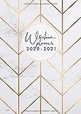 Wochenplaner 2020-2021: Juli 2020 bis Dezember 2021, modernes Marble Cover Design mit rose-gold Pattern, 18 Monate Wochen- und Monatsplaner, 1 Woche ... cm, Din A5 (Bürobedarf 2020-2021, Band 1)