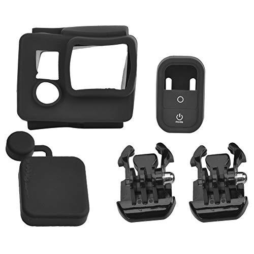 214 Juego de Fundas Protectoras para cámara de acción, Estuche Protector portátil Soft Slicone Carcasa Impermeable, para cámaras para GoPro HD Hero 3/3 + / Hero 4