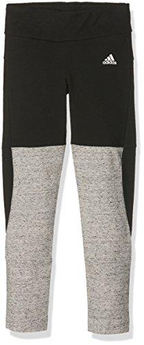 adidas Mädchen Sportleggings Key Pieces, Black/Pepper Melange, 140, AY5316