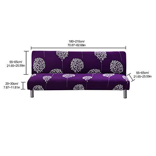 HJWXY (Grande) Sofá de Tela de Polvo Cubierta de sofá con Todo Incluido y sin apoyabrazos Cobertura Universal