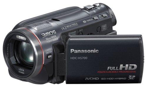 Panasonic HDC-HS700EGK Full-HD Camcorder (SD/SDHC/SDXC-Karte, 12-fach optischer Zoom, 7,6 cm (3 Zoll) Display, 240GB Festplatte, USB 2.0) schwarz