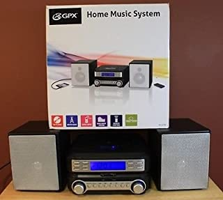 GPX New HC221B Home Music System CD Player AM/FM Audio Input Remote Control