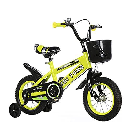 DHMKL 12/14/16/18 Pulgadas Bicis Infantiles Bicicletas NiñOs Bicicletas Infantiles para NiñOs Y NiñAs con Ruedas Entrenamiento Antideslizantes Adecuadas para NiñOs Y NiñAs 2 A 9 AñOs