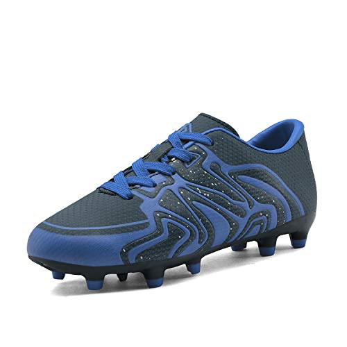 DREAM PAIRS Boys Girls 160472-K Navy Royal White Soccer Football Cleats Shoes Size 13 M US Little Kid