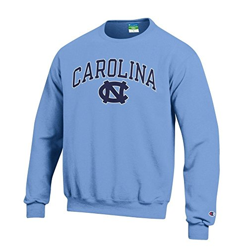 Elite Fan Shop North Carolina Tar Heels Crewneck Sweatshirt Varsity Blue - X-Large