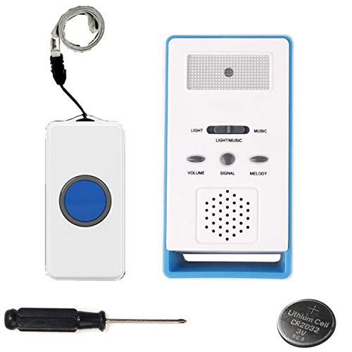 LEAGY One Remote-Ruftaste Wireless Caregiver Personal Pager Schwesternruf-Alarm (Blau)