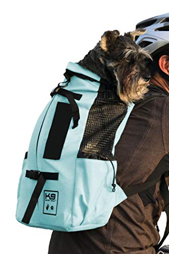 K9 Sport Sack   Dog Carrier Backpack for Small and Medium Pets   Front Facing Adjustable Dog Backpack Carrier   Fully Ventilated   Veterinarian Approved (Medium, Air - Summer Mint)