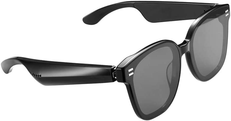 MOUSSY Audio Glasses (Series 1) | Smart Glasses with Open-Ear Audio | Classic Black for Men and Women