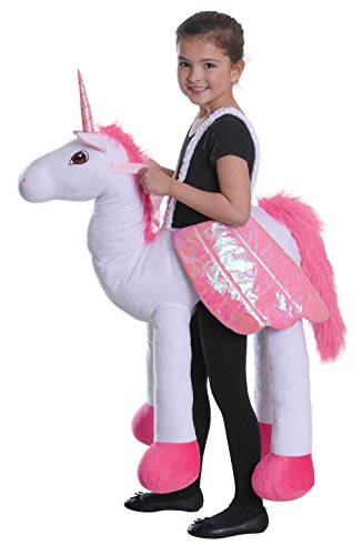 Bristol Novelty- Cc043 Costume de Licorne au Galop, Rose, Taille Unique