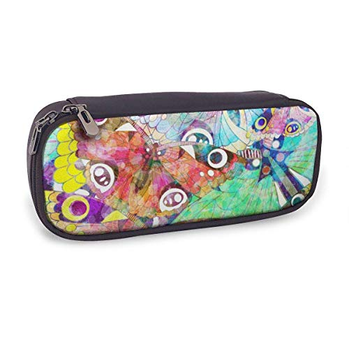 Pencil Case Pen Bag,Pattern with Butterflies,Large Capacity Pen Case Pencil Bag Stationery Pouch Pencil Holder Pouch with Big Compartments