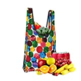 The-Very-Hungry-Caterpillar-Abstract-Dots-Multi Fold Eco-Friendly Shopping Bags Large Capacity Daily Necessity