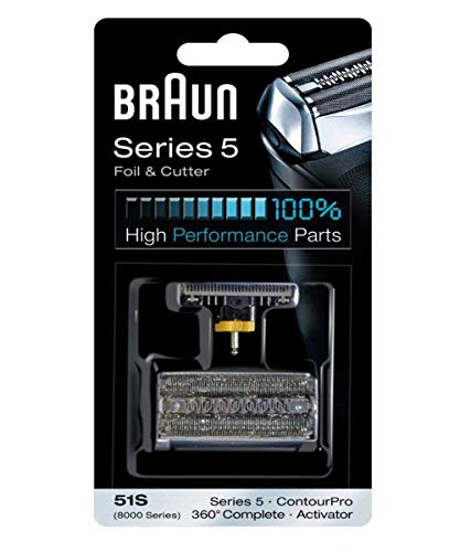 Braun 51s 8000 Series 360 Replacement Electric Shaver Foil and Cutter Set
