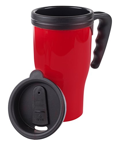 Fill n Brew Insulated Mug, Plastic, 16 Ounces