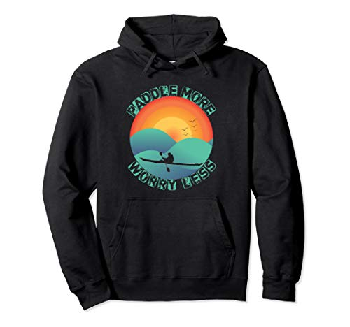 Kayaking Gift for Kayaker tshirts Yak Kayak Paddle Pullover Hoodie
