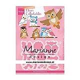 Marianne Design Collectables Fustelle, Gufo, Estate Indiana, per Taglio e Goffratura di Disegni Comples