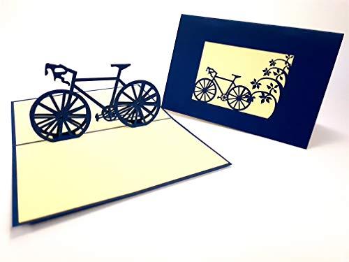Fiets Nieuwe Groeten Kaart, Bedankt U pop-up Wenskaart, Kirigami Paper Craft Postkaarten, Viering, Gefeliciteerd...