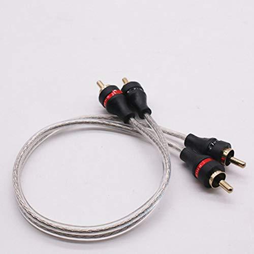 DSstyle audiokabel voor subwoofer, puur koper, audiokabel, luidsprekerkabel van puur koperdraad, gesatineerd, wit Eén maat 30 cm.