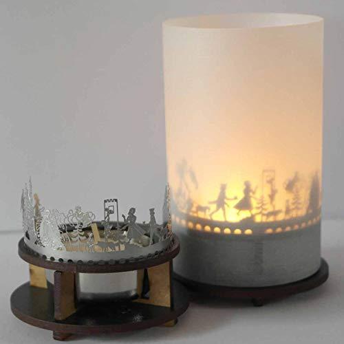 13gramm Grimms Märchen Windlicht Schattenspiel Premium Geschenk-Box, inkl. Kerzenhalter, Kerze, Projektionsschirm und Teelicht