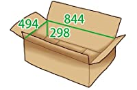 In The Box ダンボール 段ボール「衣類用LA(844×494×高さ298mm) 10枚」茶色