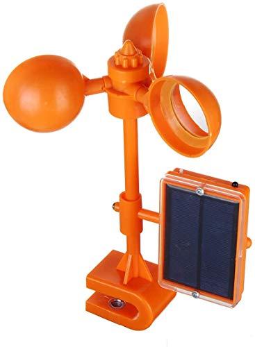 Control de los pájaros, pájaro Repelente Solar en energía Abierta, Scarer Voz 360 repelentes Que giran con Reflectante del Espejo, Orchard Garden Bird Repelente de Molino de Viento