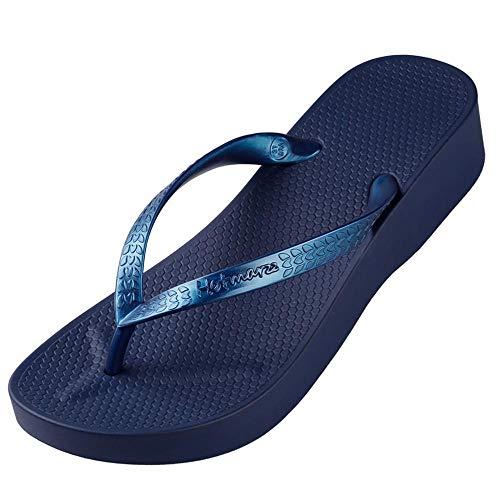 WDDNTX Sandalen Hoge hak Platform Sandalen Strand Slippers Wedge Flip Flops Mode Slides Zomer Schoenen Vrouw Huis Slippers