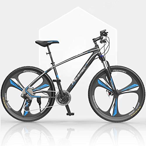 ZRN 26/27 Inch Men's Mountain Bikes, High-Carbon Steel Hardtail Mountain Bike, Mountain Bicycle with Front Suspension Adjustable Seat,27 Speed