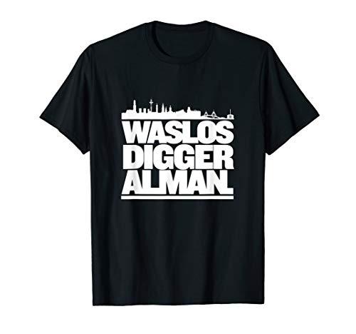 Was los Digger Alman Hamburg HipHop T-Shirt