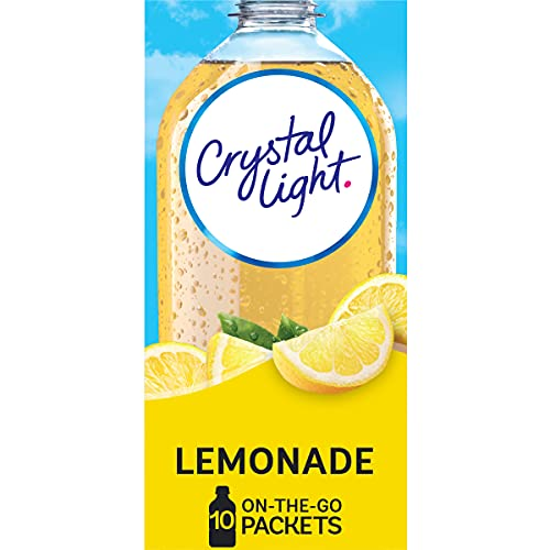 Crystal Light Sugar-Free Lemonade Drink Mix (120 On-the-Go Packets, 12 Packs of 10)