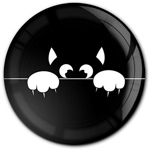 metALUm runder Acrylmagnet mit starkem Neodym - Magnet Katze #1301186